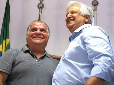 Modesto Roma Júnior e Odílio Rodrigues, Coletiva (Foto: Bruno Giufrida)