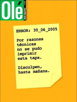 capa Olé Brasil Copa das Confederações (Foto: Reprodução / Olé.ar)