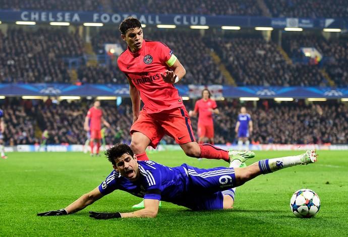 Thiago Silva, PSG x Chelsea, Liga dos Campeões 2014/2015 (Foto: Getty Images)