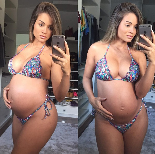 Grávida de 7 meses, Aryane Steinkopf diz ter engordado 7 kg (Foto: Reprodução / Instagram)
