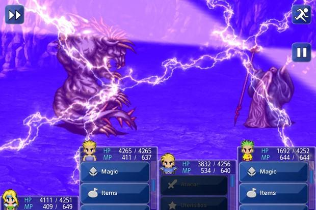 Menus de 'Final Fantasy VI' foram reformulados para telas sensíveis ao toque (Foto: Divulgação/Square Enix)