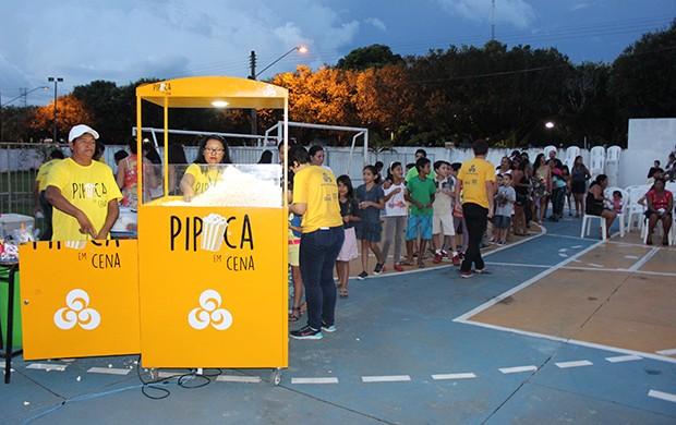 Pipoca não faltou durante o evento (Foto: Katiúscia Monteiro/ Rede Amazônica)