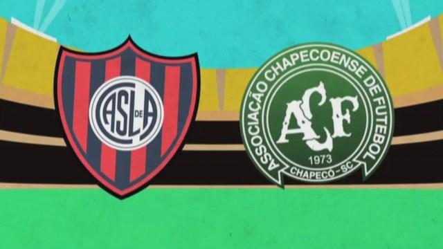 Chape e San Lorenzo se enfrentam na Argentina  (Foto: RBS TV/Reprodução)