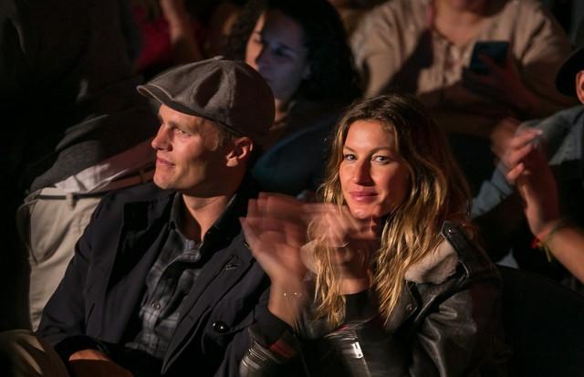 Gisele e Tom Brady na plateia (Foto: David Collaço/ Divulgação  )