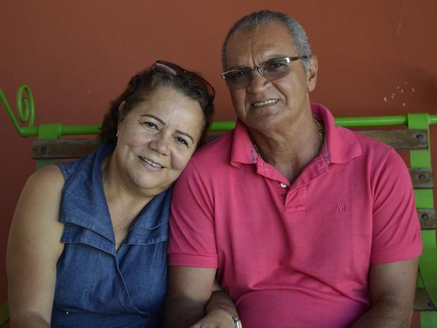 Marilene Ferreira e Osmar Elias se dizem apaixonados e muito felizes (Foto: Rodrigo Menaros / G1 RR)
