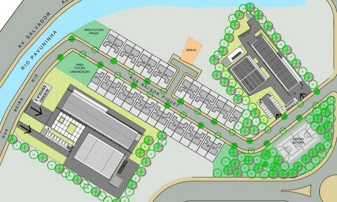 Plano da Prefeitura do Rio para a Vila Autódromo (Foto: Divulgação)
