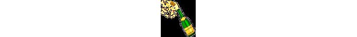 Emoji garrafa de champagne com rolha estourando (Foto: Divulgação/Consórcio Unicode)