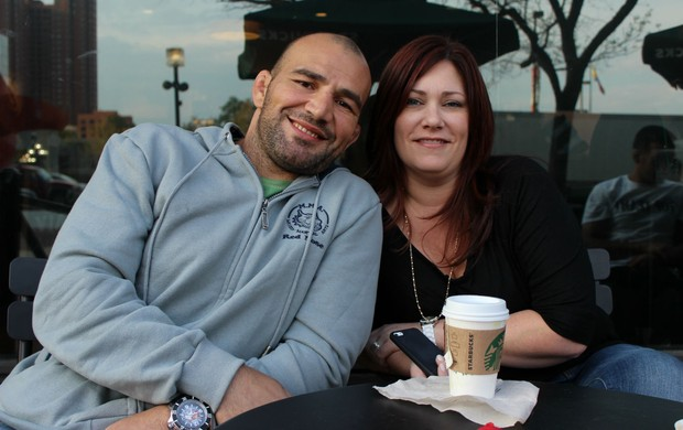 Glover Teixeira esposa Ingrid MMA (Foto: Adriano Albuquerque)