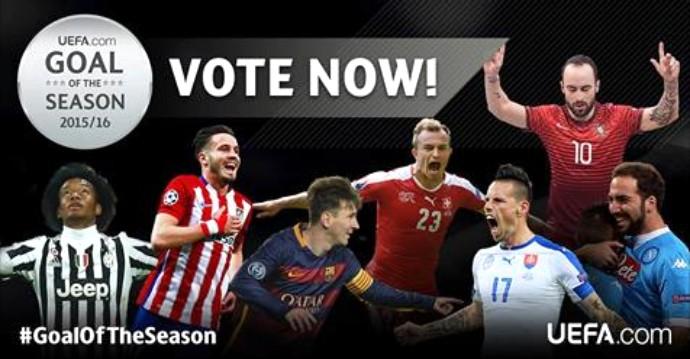 BLOG: Messi, Saúl, Shaqiri, Higuaín... Uefa abre votação para golaço da temporada 15/16