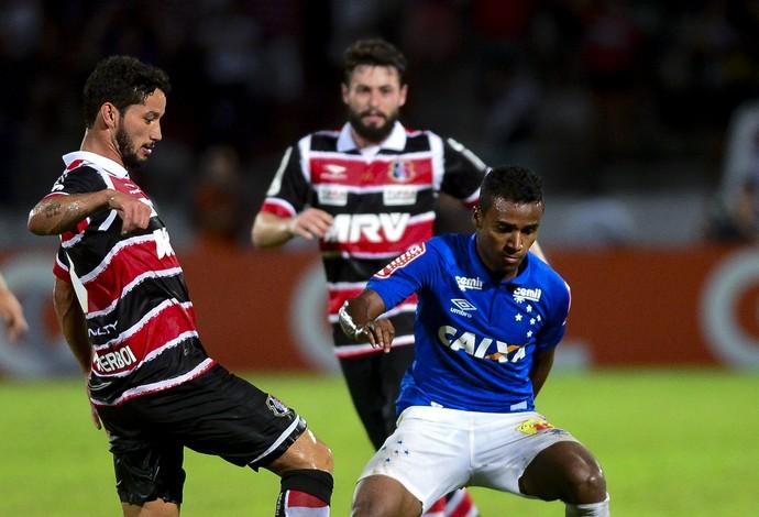 Cruzeiro e Santa Cruz; Élber  (Foto: Anderson Stevens/Light Press)