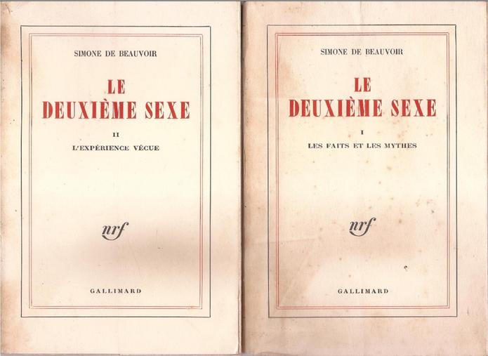 Capa do livro 'O Segundo Sexo' em francês, volume I e II (Foto: Reprodução/Wikipédia)
