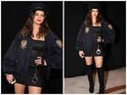 Bruna Marquezine encarna policial sexy em festa de Halloween