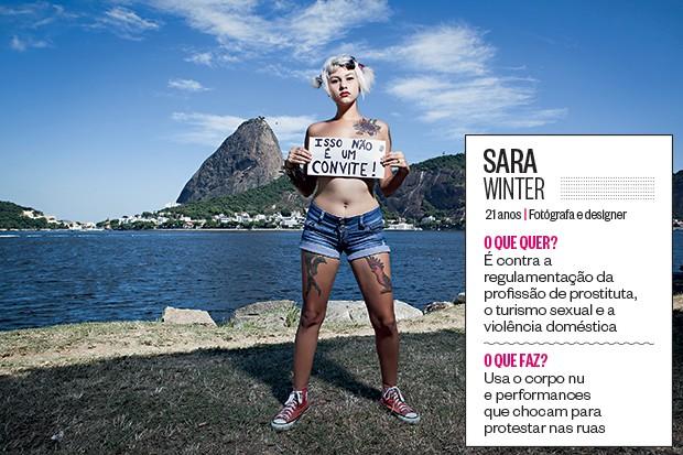 Sara Winter (Foto: Stefano Martini/ÉPOCA)