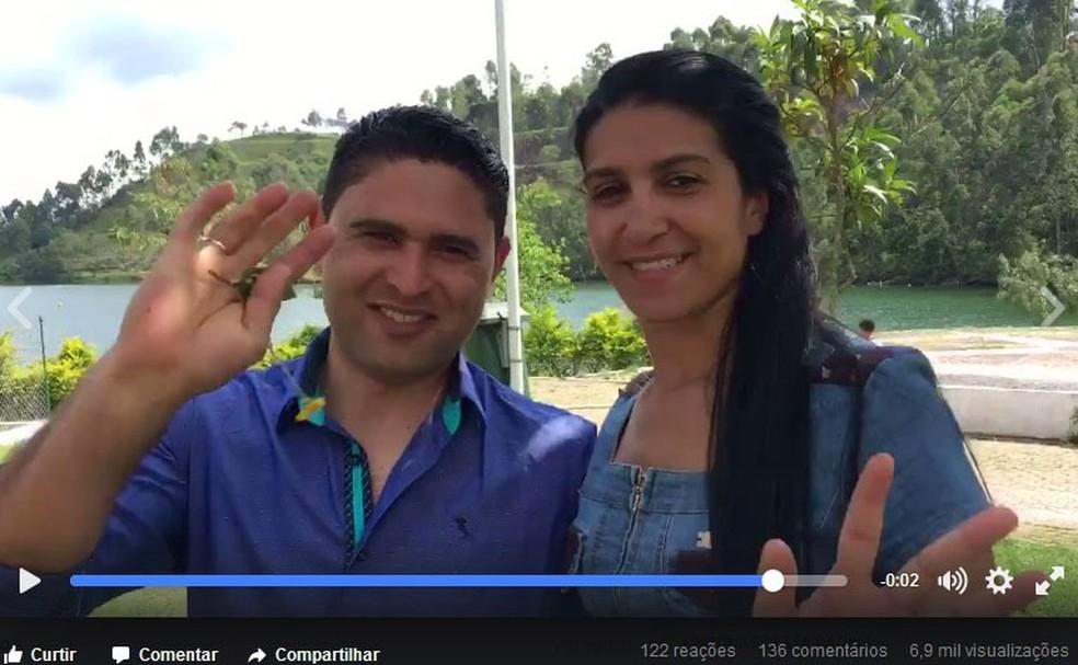 Casal gravou vídeo para agradecer trabalho de produtora após ensaio para o casamento (Foto: Reprodução/Facebook)