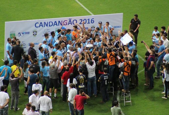 Candangão, Final, Premiação, Luziânia campeão (Foto: Lucas Magalhães)