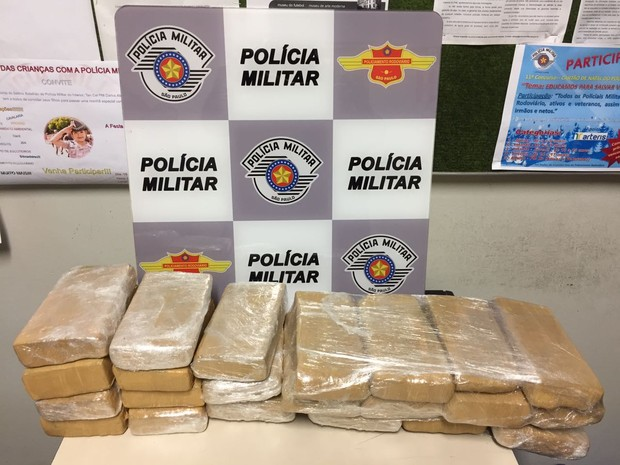 Drogas foram apreendidas pela Polícia Militar Rodoviária em Itapeva (Foto: Divulgação/Polícia Militar Rodoviária)