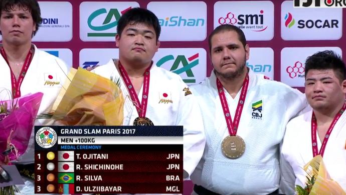 Rafael Silva é bronze no Grand Slam de Paris (Foto: Reprodução)