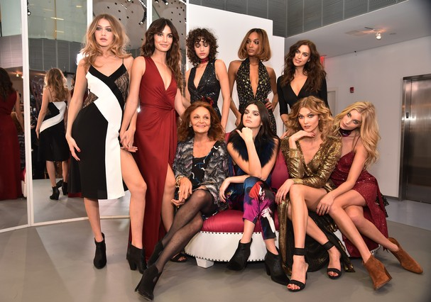 Diane Von Furstenberg e suas modelos-musas (Foto: Getty Images)
