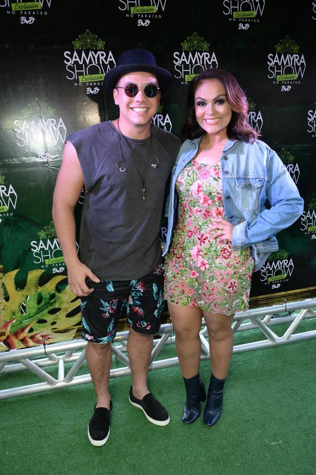 Wesley Safadão e Samyra Show (Foto: Francisco Cepeda/AgNews)