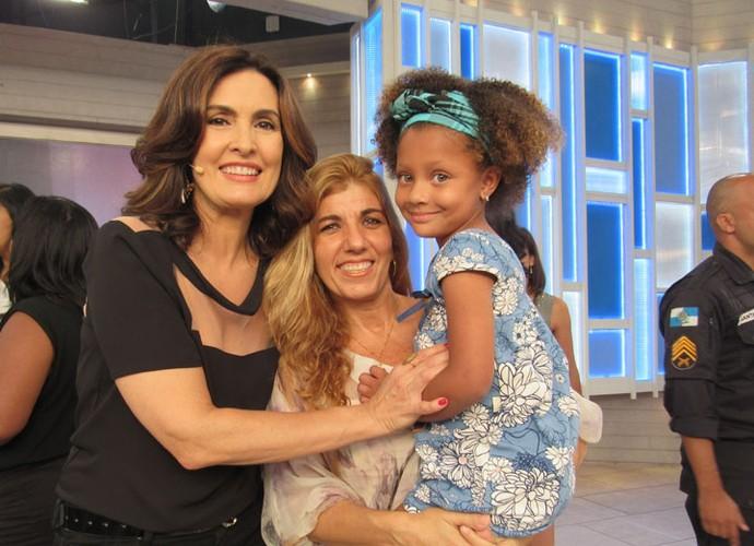 Fátima com convidadas do programa  (Foto: Carolina Morgado/Gshow)
