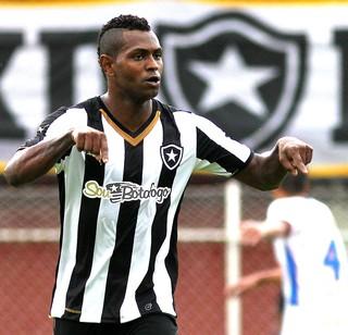 Jobson comemora gol do Botafogo contra o Friburguense  (Foto: Vitor Silva / SSpress)