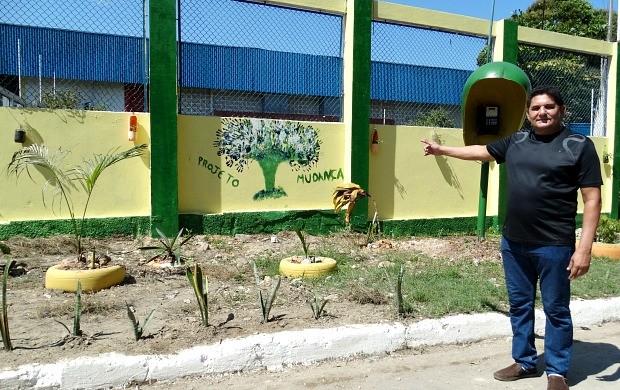 Ação teve o apoio da gestão da Escola GM 3, no bairro do Coroado, em Manaus (Foto: Onofre Martins/Rede Amazônica)
