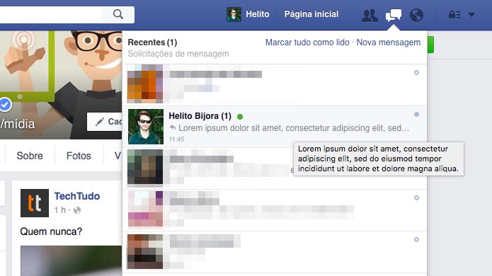 Visualizando mensagem sem que o seu amigo descubra (Foto: Reprodução/Helito Bijora)