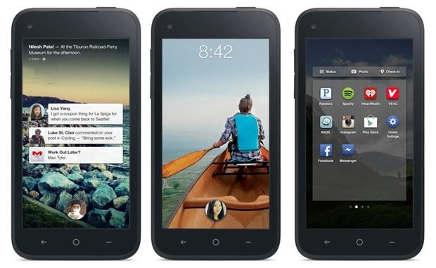 Telas do Facebook Home, uma versão da rede social para celulares que possuem o sistema operacional Android (Foto: Divulgação)