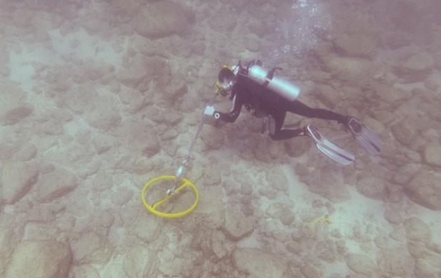 Arqueólogos acreditam que descobriram os restos do Esmeralda, um navio da frota do famoso explorador português Vasco da Gama (Foto: Blue Water Recoveries company/AP)