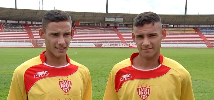 Everton, Ueslei, gêmeos, Noroeste, Série A3, Palmeiras (Foto: Reprodução / TV TEM)