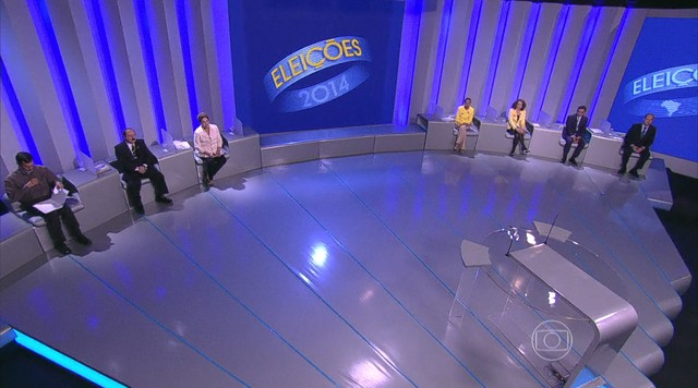 Candidatos à presidência da República participam de debate na TV Globo