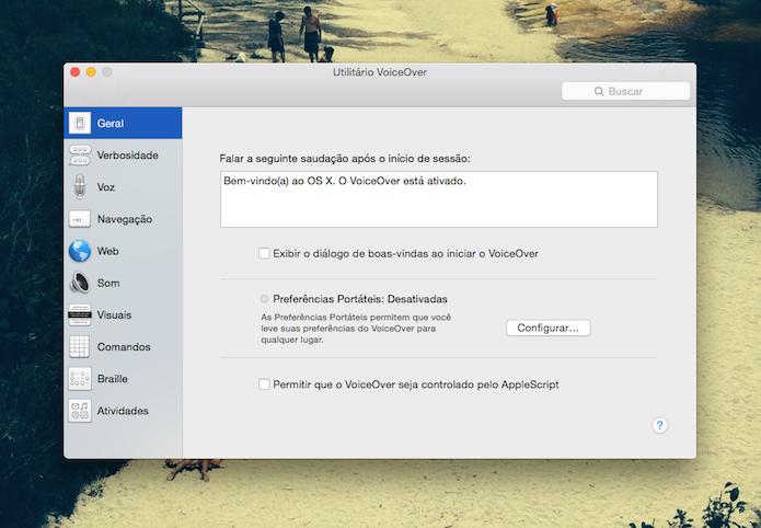 Utilitário Voice Over do Mac OS X (Foto: Reprodução/Marvin Costa)