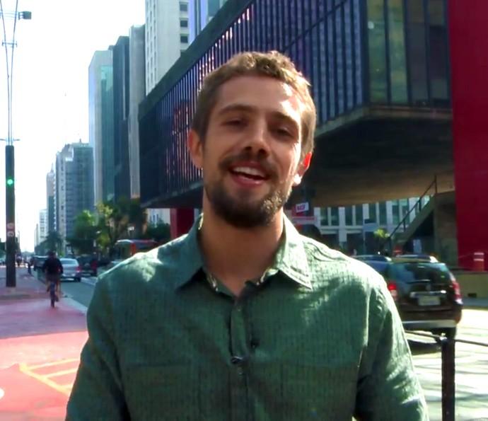 Rafael Cardoso durante gravação de 'Sol Nascente' em São Paulo (Foto: Rodrigo Peixoto/Gshow)