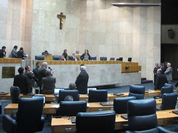 Young e Frange lamentam adiamento na Câmara Municipal de São Paulo (Foto: Roney Domingos/G1)