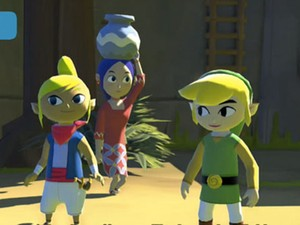 Link e amigos aparecem nas primeiras imagens em HD do remake de 'The Legend of Zelda: Wind Waker' para o Wii U (Foto: Divulgação)