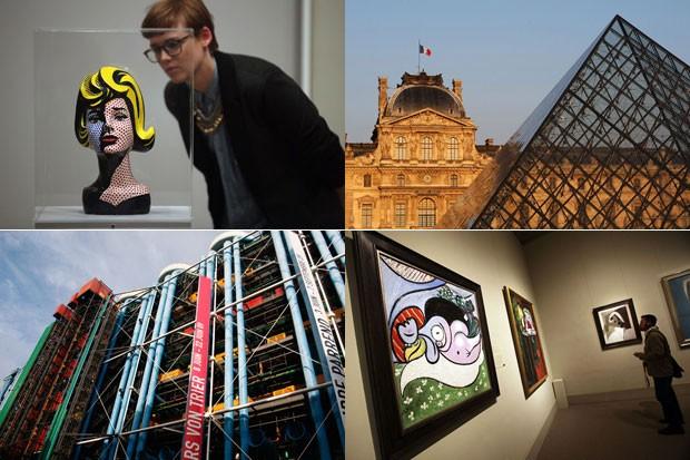 Museus mais visitados do mundo (Foto: Montagem)
