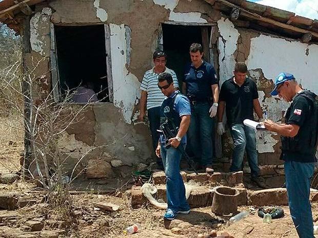 Quatro pessoas são encontradas mortas em fazenda na Bahia (Foto: Aldo Matos/ Acorda Cidade)
