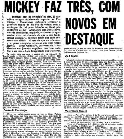 """Zico foi poupado pela crônica de """"O Globo"""" em sua estreia em Fla-Flus (Foto: Reprodução)"""