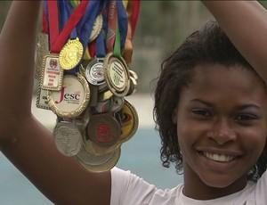 Rawany Borges atletismo cubatão (Foto: Reprodução / TV Tribuna)