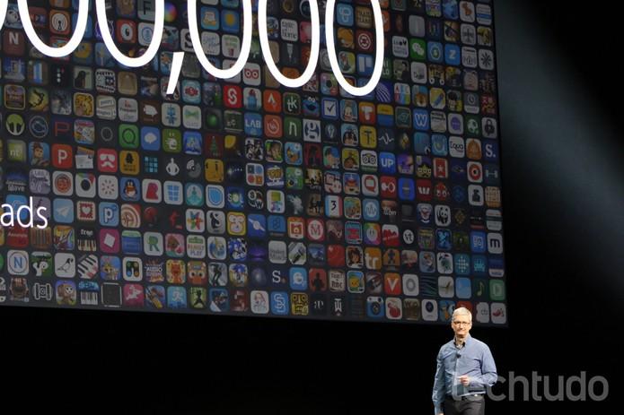 Tim Cook apresenta as novidades da Apple no WWDC 2016 (Foto: Fabrício Vitorino/TechTudo)