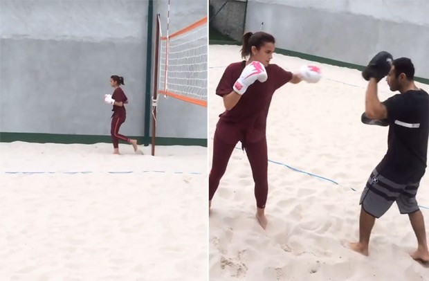Bruna Marquezine treinando no Rio (Foto: Reprodução/Instagram)