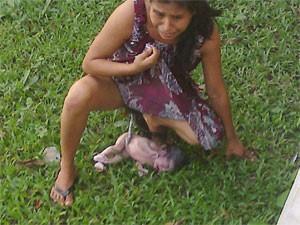 Mulher de origem indígena deu à luz em gramado de hospital no México (Foto: Reprodução/Facebook/Eloy Pacheco López )