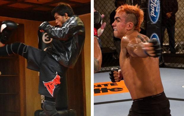 MONTAGEM -  UFC miltinho Vieira e Pepey (Foto: Editoria de Arte / Globoesporte.com)