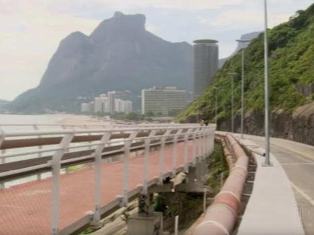 Ciclovia da Niemeyer será inaugurada no domingo (Foto: Reprodução/TV Globo)