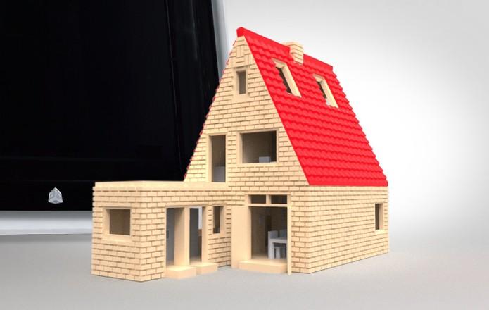 CubePro é capaz de fazer casa em miniatura e diversos outros objetos (Foto: Divulgação)