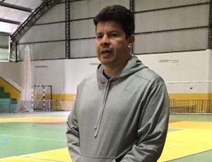 Flavinho Cavalcante, técnico do futsal de Dracena (Foto: Murilo Rincon / GloboEsporte.com)