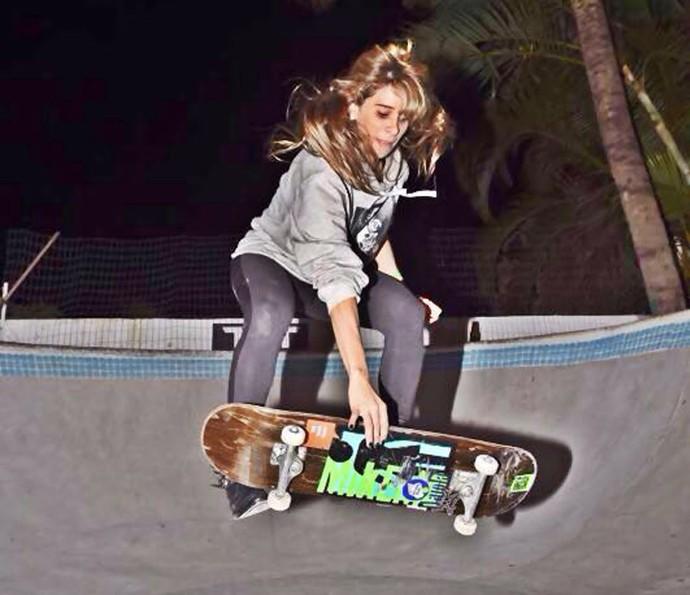 Olha Dany arrasando no skate! (Foto: Arquivo pessoal)