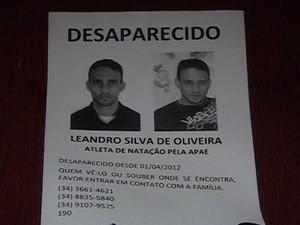Leandro Silva Desaparecido (Foto: Reprodução/TV Integração)