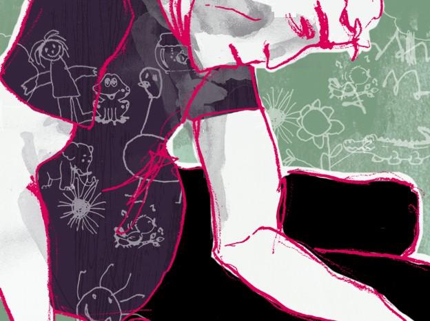 Ilustração pedófilo (Foto: Mariana Leme/G1)
