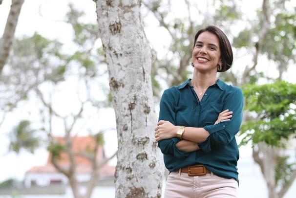 Repórter da TV Paraíba Carla Amorim (Foto: Julio Cesar Perez/TV Paraíba)